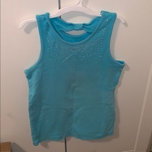 Blue Tank Top With Sparkles